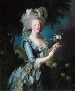 Celebre ritratto di Maria Antonietta con una rosa