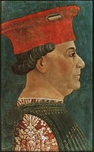 Bellezza nel Medioevo: Francesco Sforza con i capelli tinti di nero corvino