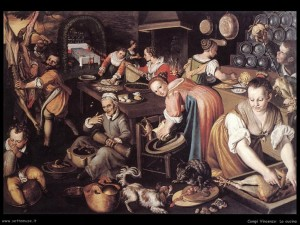 """""""La cucina"""" di Vincenzo Campi (1508 circa)"""