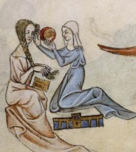 Bellezza femminile nel Medioevo: donne che si pettinano