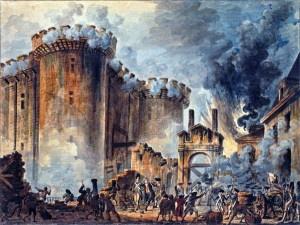 La presa della Bastiglia in un dipinto di Jean-Pierre Houel