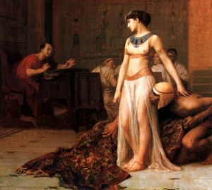 Cesare e Cleopatra in una tela di William Etty, 1830