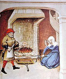 Una tipica cucina italiana del Medioevo