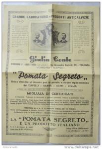 Vecchia pubblicità di un prodotto contro la calvizie