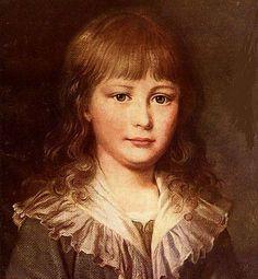 Il piccolo Luigi Carlo, figlio di Maria Antonietta e Luigi XVI