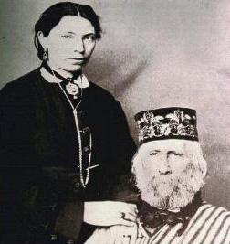 Garibaldi insieme a Francesca Armosino