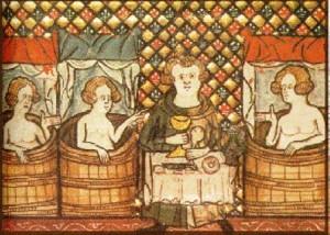 il rituale del bagno nel medioevo