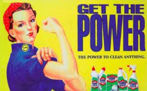 Vecchia pubblicità di un detersivo per il bucato