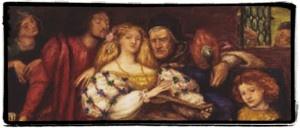 Lucrezia Borgia con alcuni membri della sua famiglia