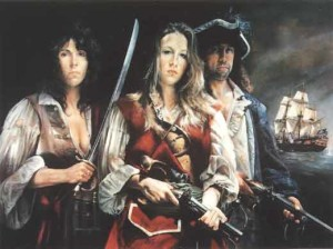 Imaginative portrait of Anne Bonny, Mary Read e Calico Jack