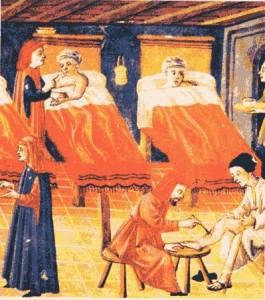 Corsie di un ospedale medievale