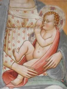 Allattamento nel Medioevo. La Vergine allatta Gesù