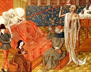 La peste rappresentata in una miniatura del XV secolo