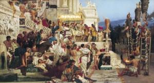 """La persecuzione dei cristiani sotto Nerone: """"Le torce di Nerone"""" di H. Siemeradzki, 1876"""