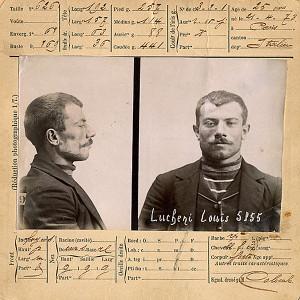 Foto segnaletica di Luigi Lucheni
