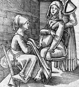 Un parto nel Medioevo, quando non era facile né partorire né nascere