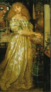 Lucrezia Borgia si lava le mani dopo aver avvelenato il marito, di Dante Gabriel Rossetti, 1861