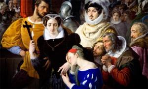 """""""Maria Stuarda condotta al patibolo"""" (particolare) di FRancesco Hayez (1827)"""