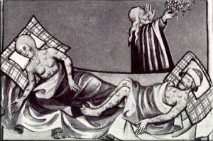 Malati di peste nel Medioevo. Le cause della peste erano sconosciute