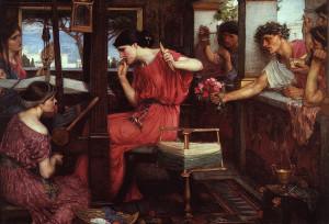 Penelope e i suoi pretendenti, John William Watherhouse, 1912
