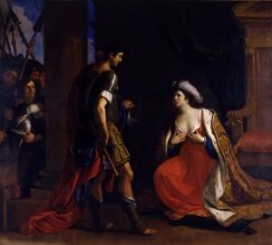 Cleopatra davanti ad Ottaviano, Guercino, 1640