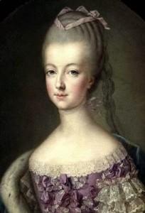 Ritratto di Maria Antonietta. Nello stesso giorno della sua nascita, un forte terremoto distrusse Lisbona