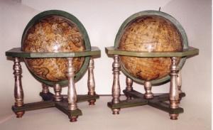 Mappamondi del '700 conservati a Versailles. La geografia era una grande passione di Luigi XVI