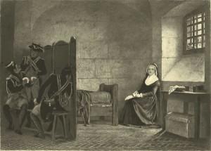 Maria Antonietta alla Conciergerie; la nascita della moda del fiore all'occhiello è legata a lei