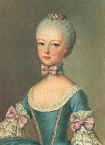 Ritratto di una giovanissima e deliziosa Maria Antonietta