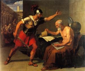 Uccisione di Archimede di D. Udine (1815) - Rovereto (foto ufficio stampa Mart)