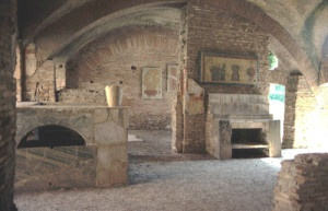 Una tipica taberna romana a Ostia
