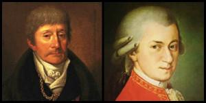 Ritratti di Antonio Salieri e Wolfang Amadeus Mozart