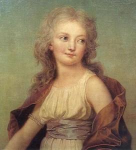 Maria Teresa Carlotta di Borbone Francia ritratta bambina