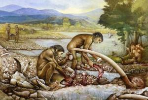 La caccia al mammut nella preistoria veniva praticata con l'aiuto dei cani