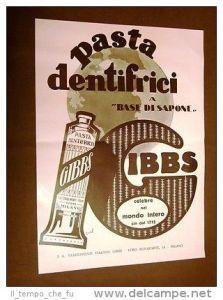Pubblicità di un dentifricio alla menta di inizio '900