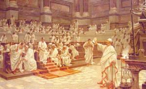Una seduta nel Senato dell'Antica Roma