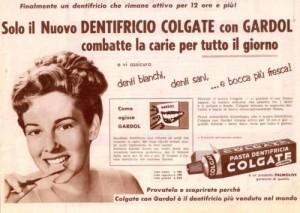 Una vecchia pubblicità del dentifricio Colgate