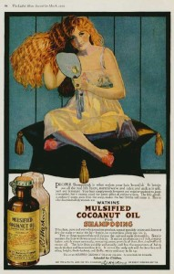 Pubblicità di uno shampoo per capelli femminili (1919)