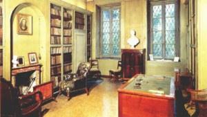 Interno della casa di Manzoni a Milano: lo studio