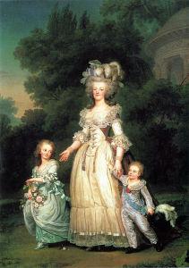 Maria Antonietta con i figli Maria Teresa Carlotta e Luigi Giuseppe (1785)