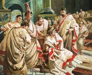 Uccisione di Cesare. Le parole rivolte a Bruto sono solo una delle tante frasi inventate (o manipolate) della Storia?