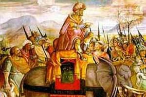 La discesa con gli elefanti di Annibale; il condottiero, una volta, riuscì a vincere una battaglia anche grazie all'uso dei serpenti