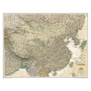 Un'antica carta geografica della Cina