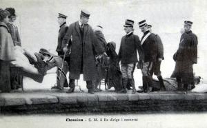 Vittorio Emanuele III coordina i soccorsi a Messina nel 1908