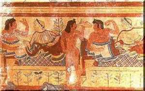 Etruschi a tavola. Olio d'oliva e olive erano alla base della loro alimentazione