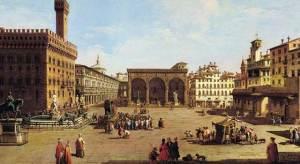 Firenze nel Medioevo. I nomi delle persone dell'epoca si riferivano spesso ai Santi e alla virtù