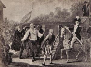 Luigi XVI verso il patibolo. Le cronache dell'epoca sono in certi punti discordanti l'una con l'altra