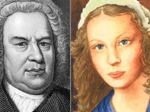 Johann Sebastian Bach e la moglie Anna Magdalena
