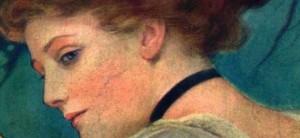 Un bel viso femminile di inizio '900. I punti neri si combattevano soprattutto con rimedi naturali