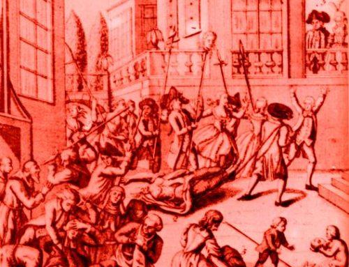 Frankreich,1792: Prinzessin Lamballe von den Revolutionären Massacred